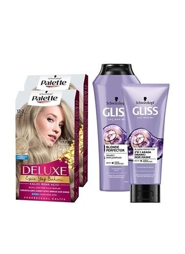 Gliss Gliss Blonde Perfector Şampuan 250 Ml + Palette 2X 122 Titan Sı Saç Boyası Renksiz